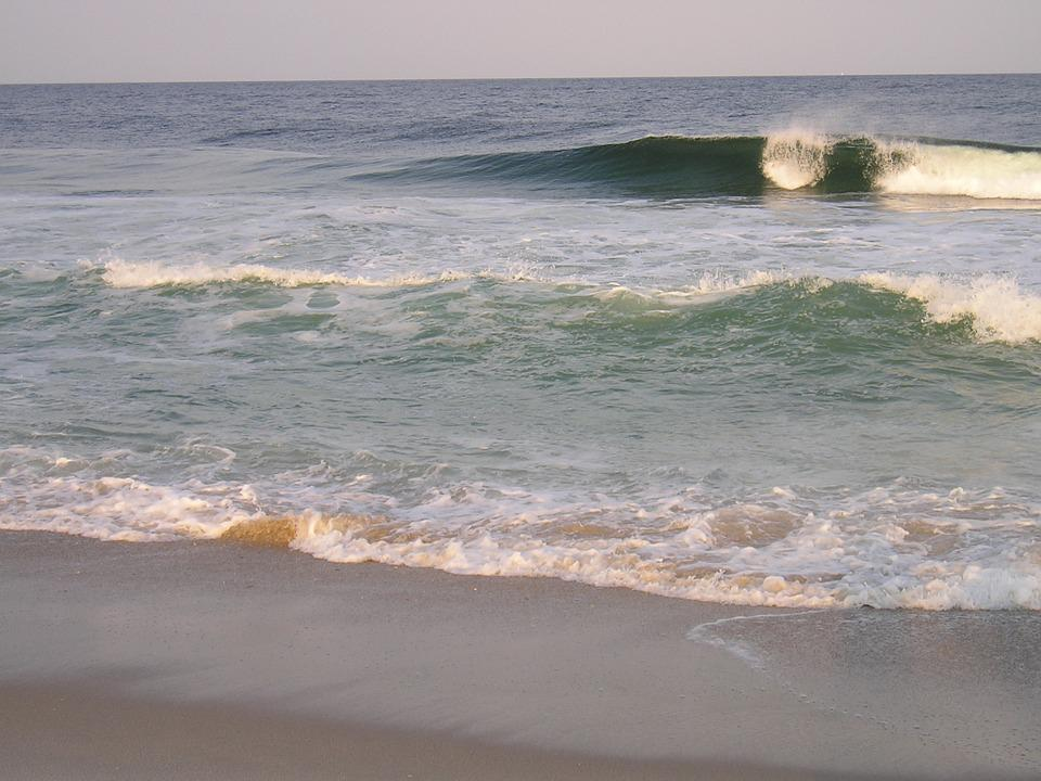 Breakwater, Surge, Surf, Wave, Beach, Scenery, Sea