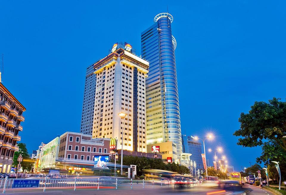 Xiamen, Gulangyu Island, Scenery, Evening, City, Lights