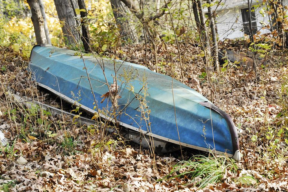 Boat, Woods, Contrast, Summer, Dilapidated, Scenic