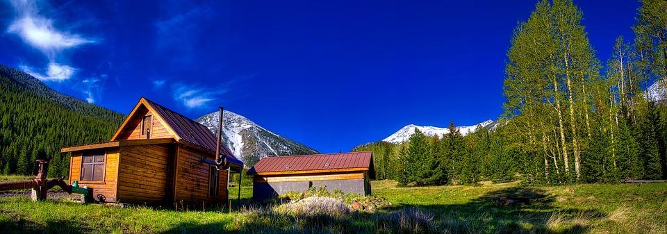 Arizona, Log Cabin, Landscape, Scenic, Hdr, Meadow