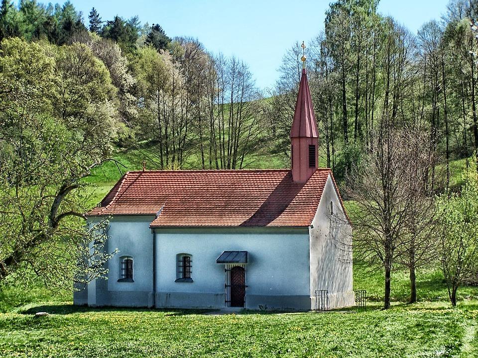 Germany, Landscape, Scenic, Church, Chapel, Field
