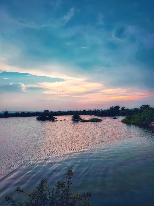 Lake, Nature, Scenery, Scenic, Countryside, Water, Dawn