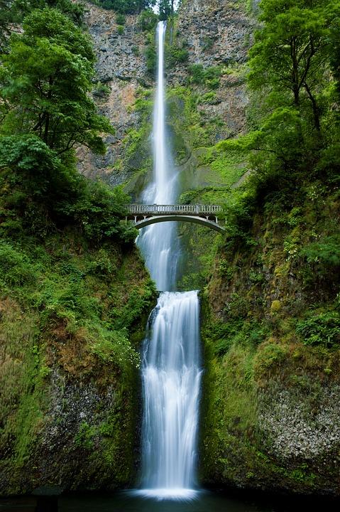 Waterfall, Oregon, Nature, Landscape, Water, Scenic