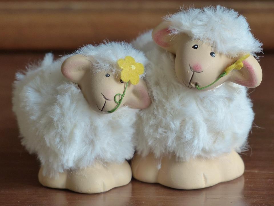 Sheep, Schäfchen, Schäfle, Decoration, Easter