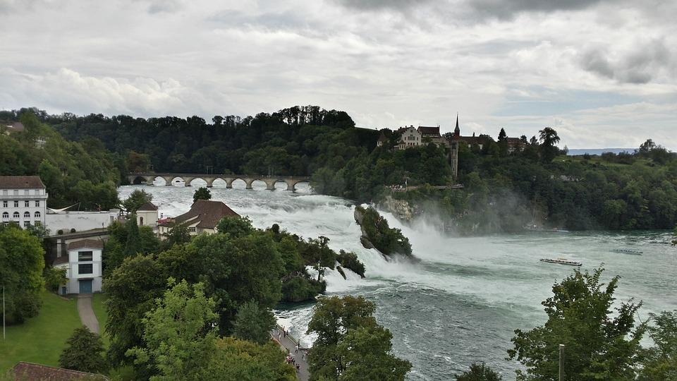 Rhine Falls, Schaffhausen, Waterfall, Switzerland