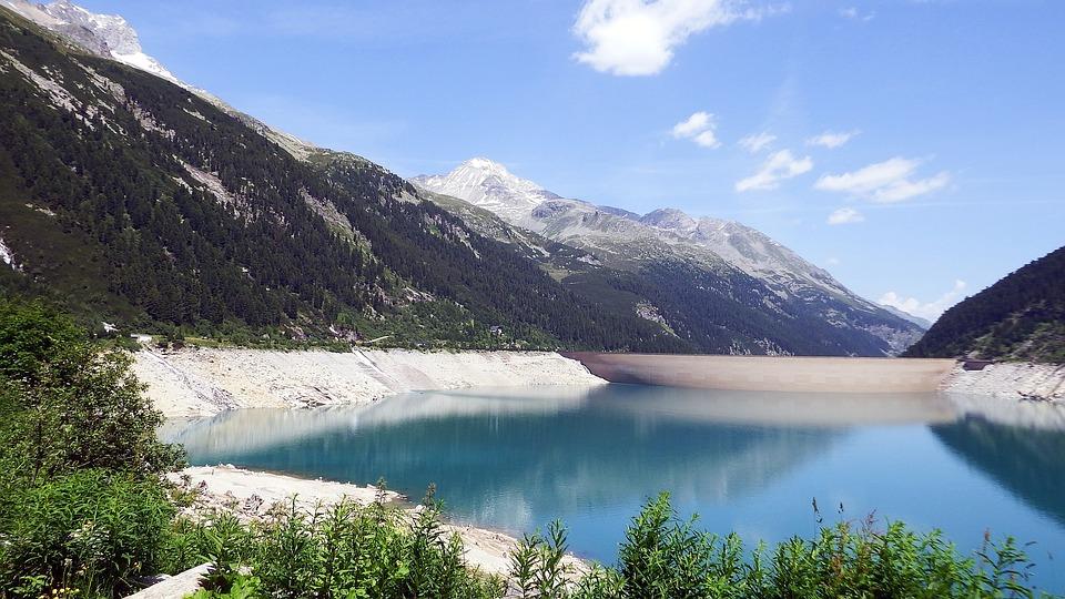 Schlegeis, Reservoir, Austria, Mountains, Lake, Water