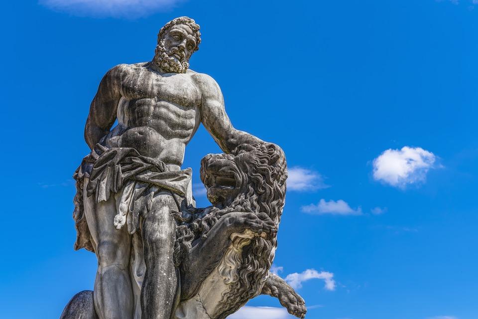 Statue Of Hercules, Giuseppe Volpini, Schleißheim