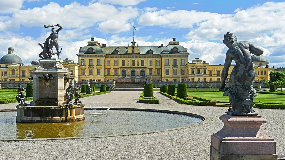 Drottningholm Palace, Schlossgarten, Garden Side
