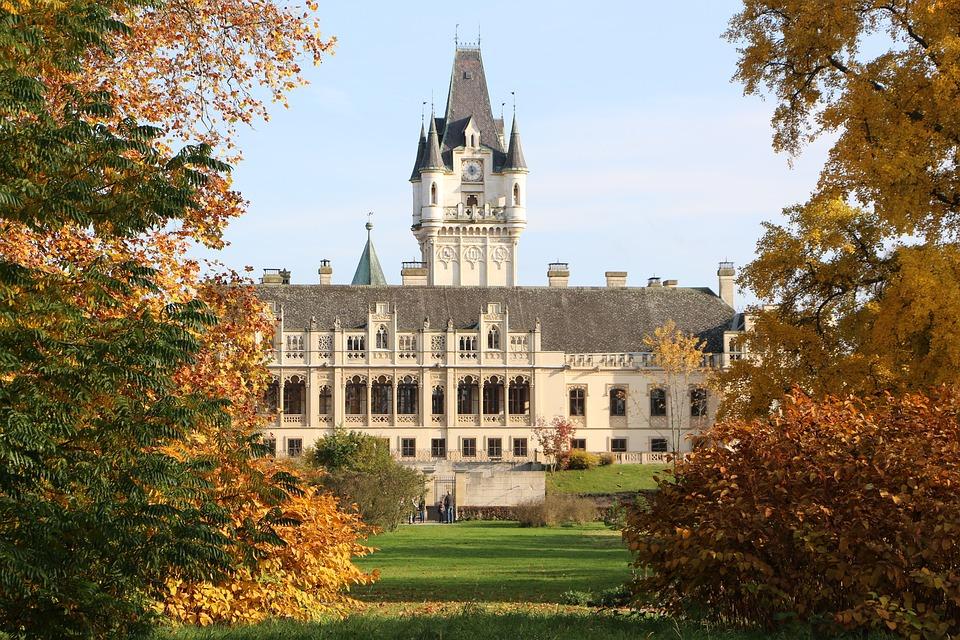 Concluded Grafenegg, Kamptal, Schlossgarten, Autumn