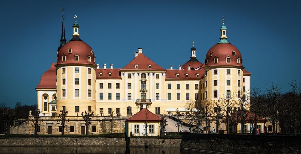 Castle, Moritz Castle, Dresden, Saxony, Schlossgarten