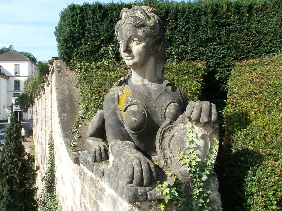 Sculpture, Sphinx, Schlossgarten, Saarbrucken, Statue