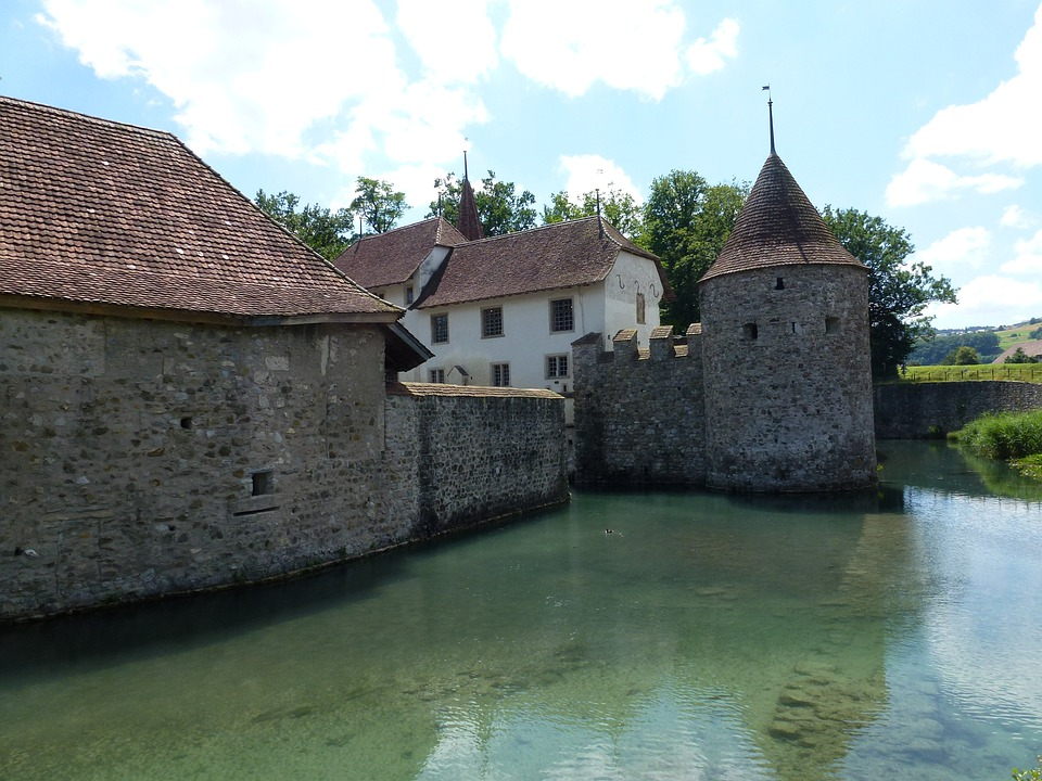 Aargau, Switzerland, Schlosshallwyl, Moated Castle