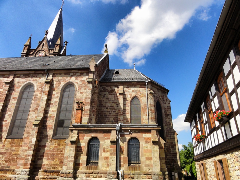 Schnersheim, France, Buildings, Church, Architecture