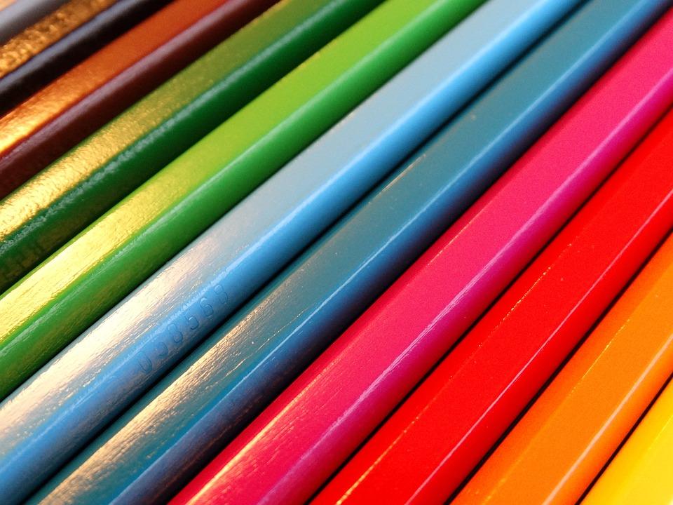 Colour Pencils, Color, Colorful, Paint, Pens, School