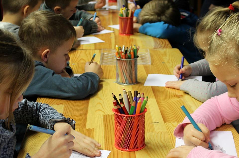 Children, Drawing, Education, Kindergarten, School