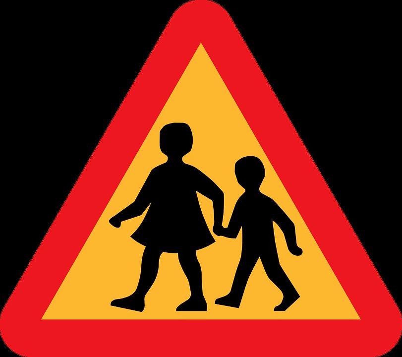 School, Kids, Crossing, Roadsigns, Traffic, Road