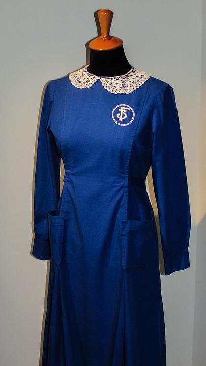 School Uniform, Old, Vintage, Blue, Uniform, School