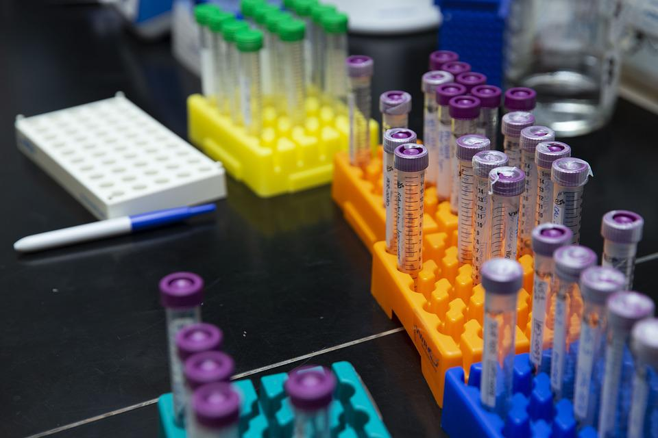 Colorful Test Tubes, Bottles, Glass, Science, Lab