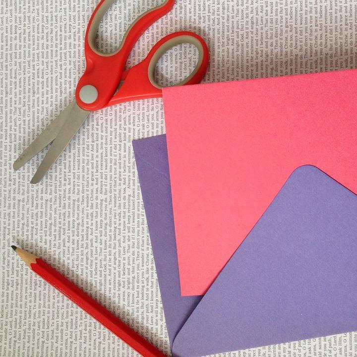 Free Photo Scissors Paper Project Card Craft Max Pixel