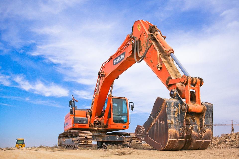 Scoop, Industry, Heavy, Machine, Power Shovel