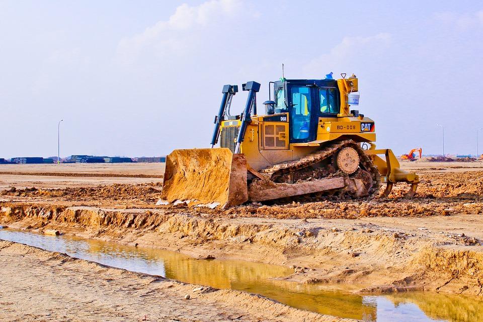 Industry, Machine, Scoop, Soil, Tractor