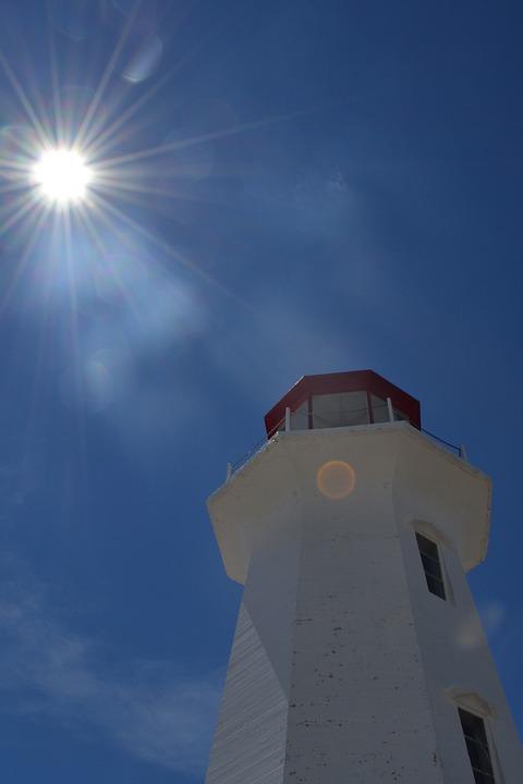 Lighthouse, Peggy's Cove, Nova, Scotia, Tourism, Canada