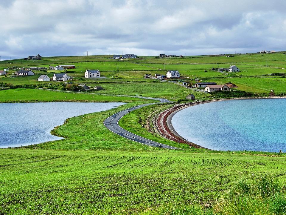 Scotland, Orkney, Burray Island, Echna Freshwater Loch