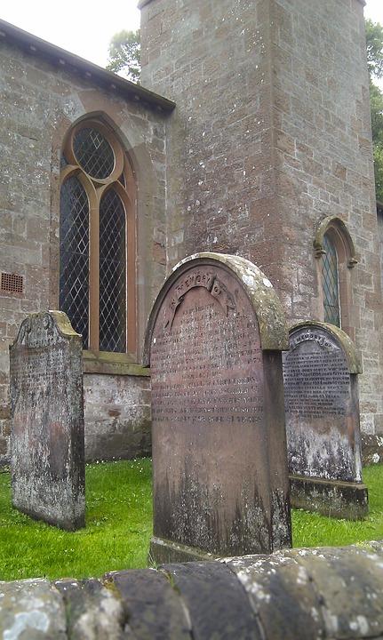 Gretna Green, Scotland, Church, Cemetery, Grey, Grave