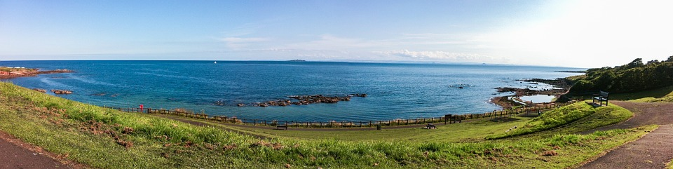 Scotland, East Coast, Panorama, Coastline