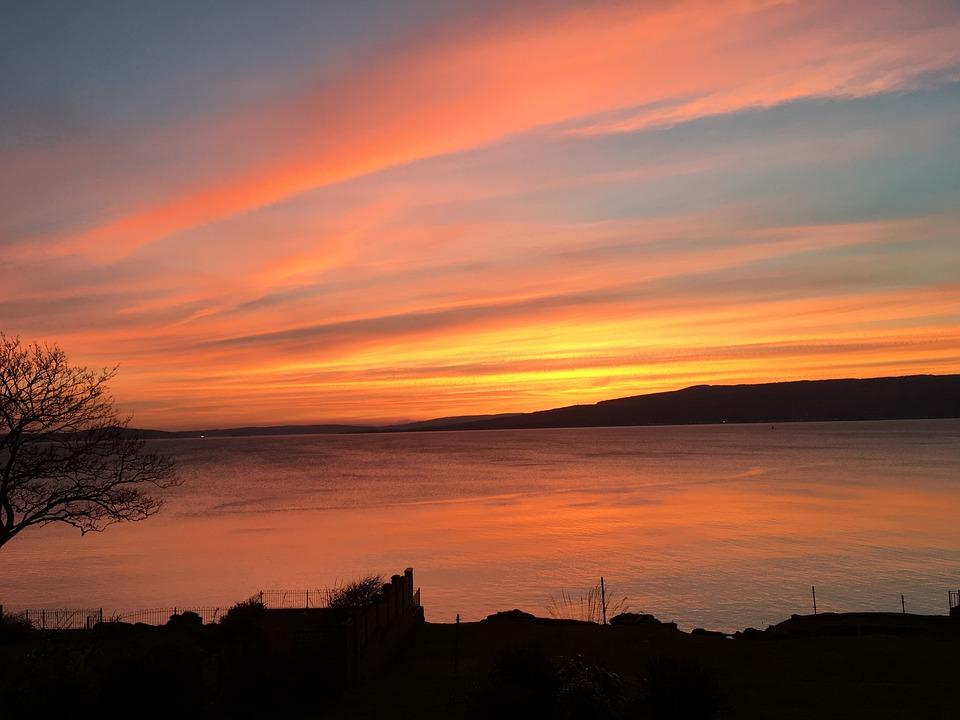 Scotland, West Coast, Sunset, Wemyss Bay
