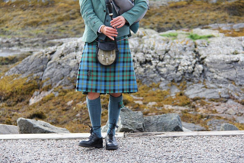 Bagpipes, Kilt, Highlander, Scottish