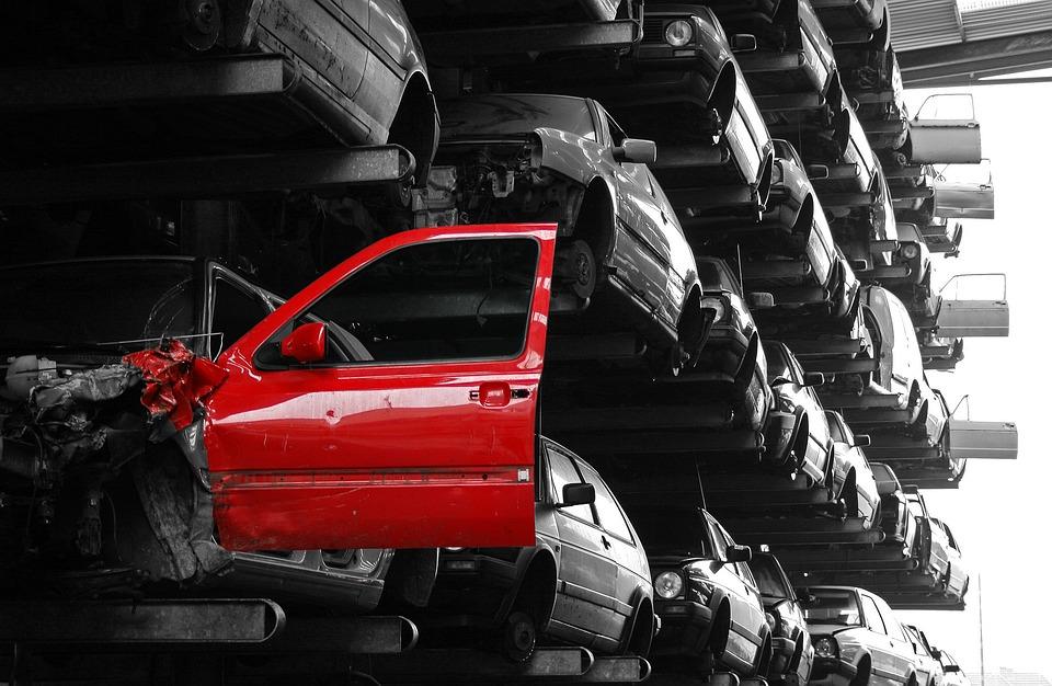 Junk Cars, Red Door, Scrap