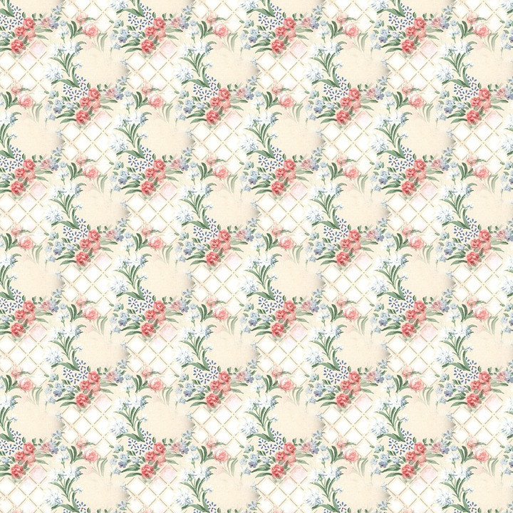 Floral Pattern, Scrapbook, Decorative, Seamless