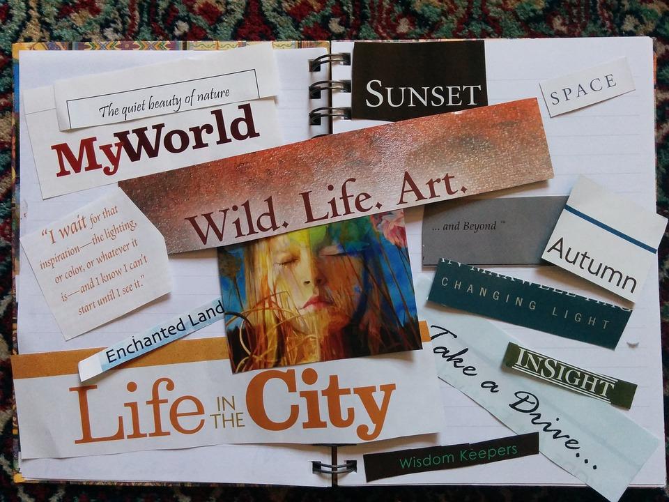 Vision Board, Manifestation, Scrapbook, Scrapbooking