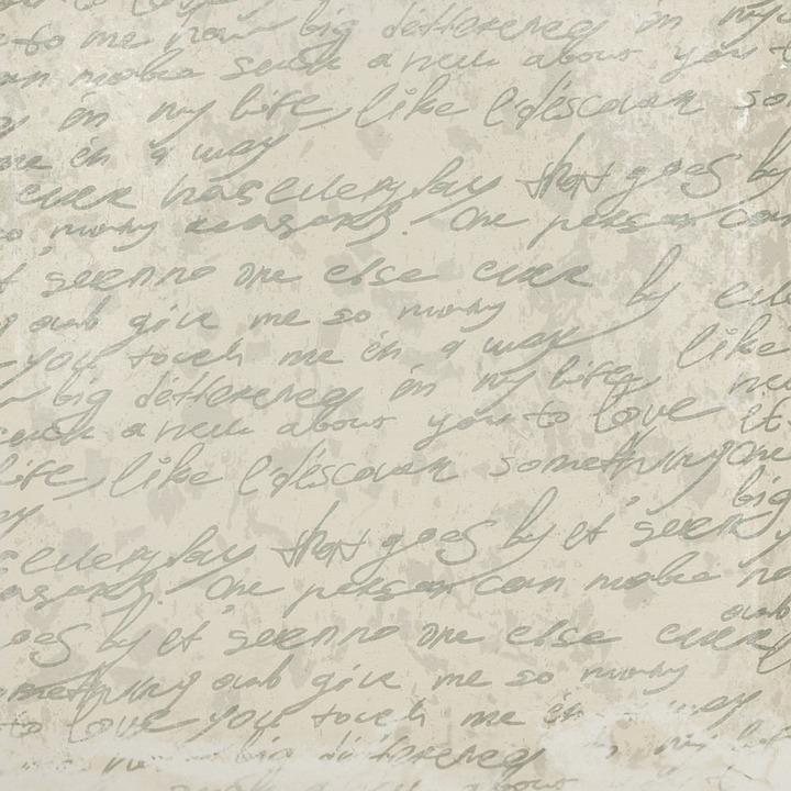 Handwritten, Text, Page, Soft, Romantic, Scrapbooking