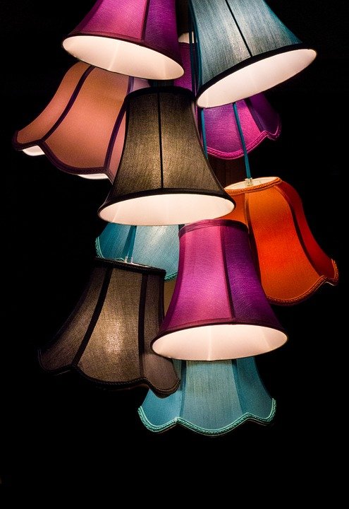 Lamps, Light, Lampshade, Screen, Deco, Living Room