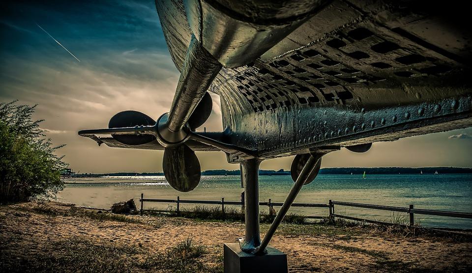 U Boat, Propeller, Screw, Drive, Steel, Metal, Iron