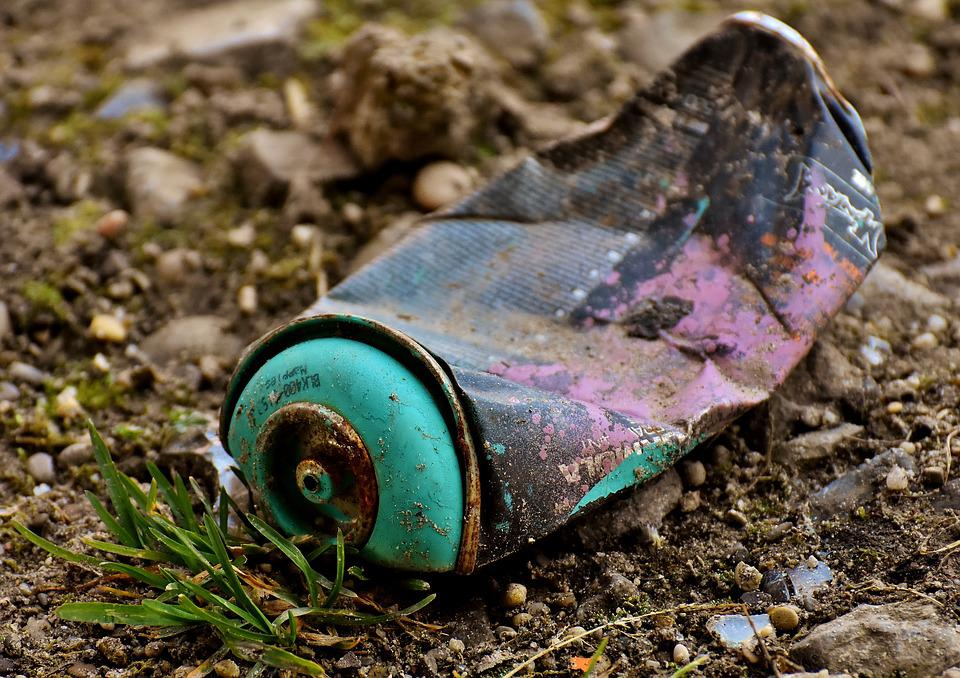 Spray Can, Color, Graffiti, Tin Can, Pollution, Scruffy
