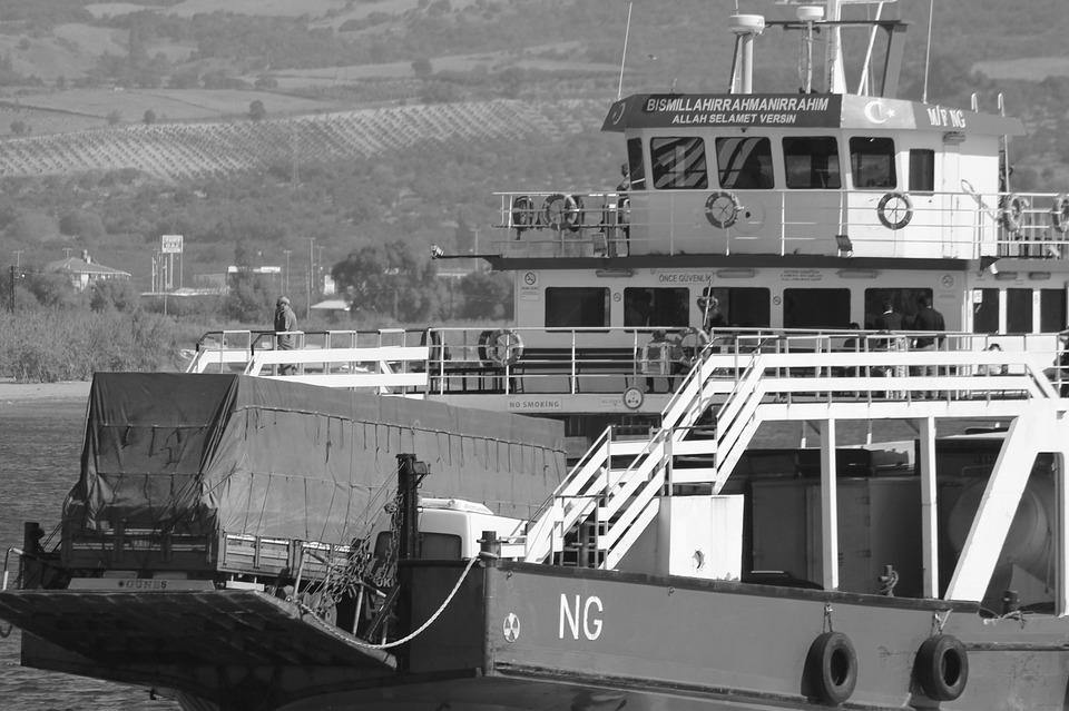 Ferry, Ship, Beach, Scully, Marine