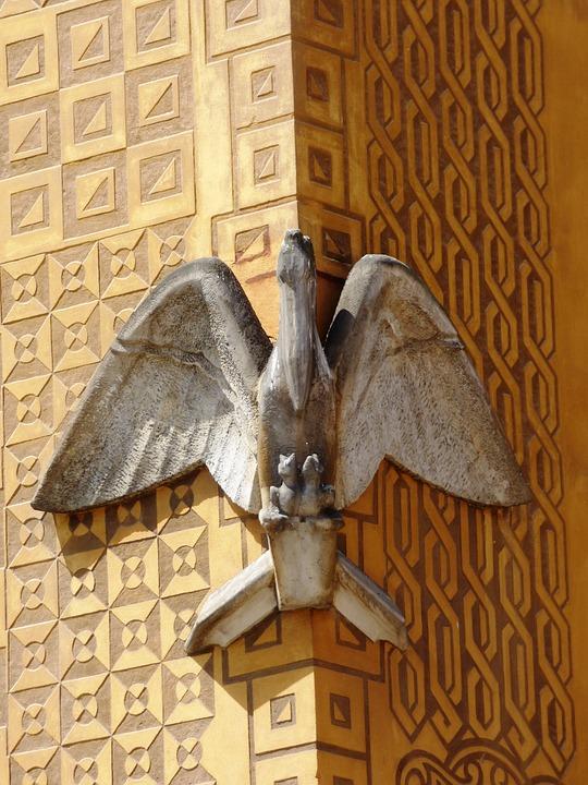 Eagle, Eagles, Kamienica, Ornament, Sculpture, Sculpt