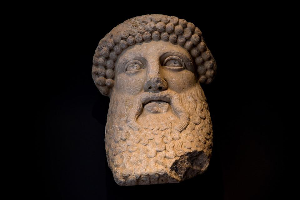 Statue, Sculpture, Stone, Face, Man, Old, Art, Roman