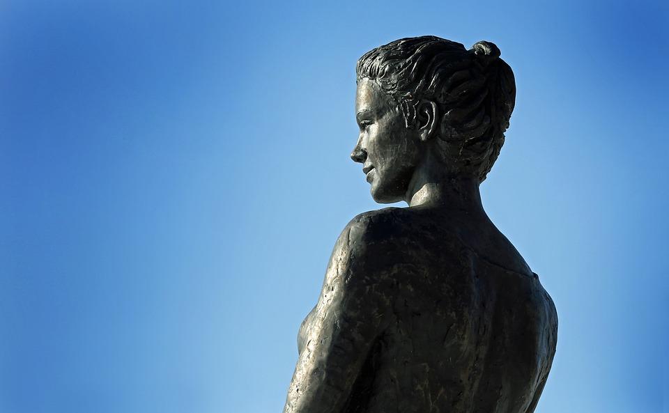 Sculpture, Bronefigur, Fig, Metal, Art, Head, Body