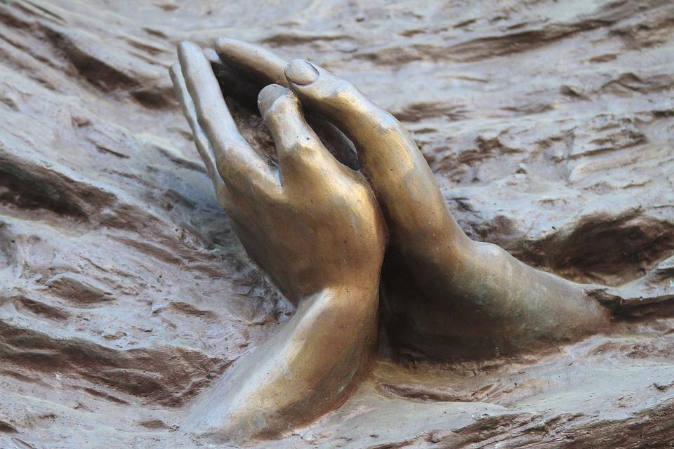 Hands, Sculpture, Art, Braga, Portugal