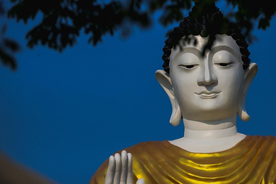 Statue, Sculpture, Buddha, Sky, Art, Blue Buddha