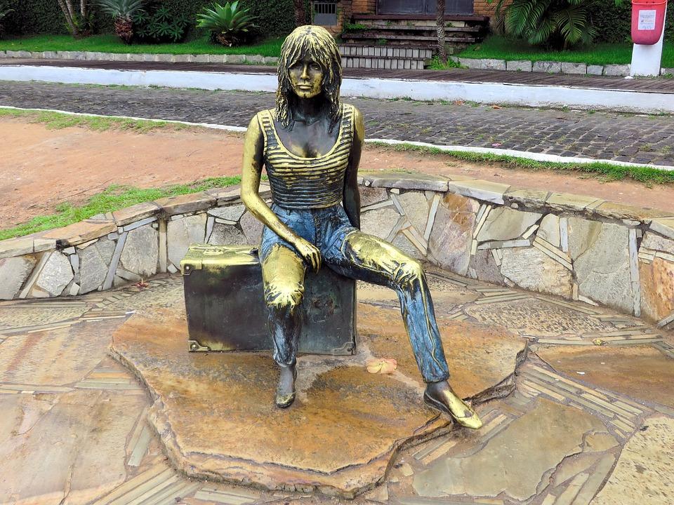 Brazilwood, Buzios, Statue, Brigitte Bardot, Sculpture