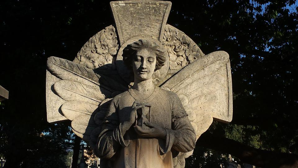 Angel, Cemetery, Sculpture, Angel Figure, Tomb Figure