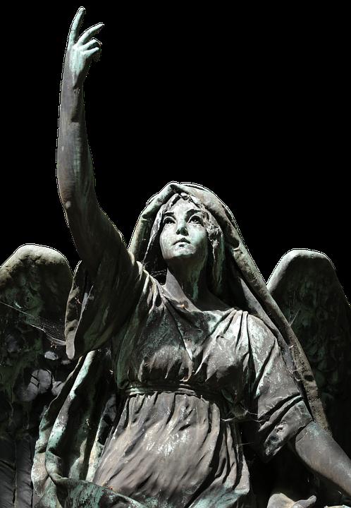 Angel, Statue, Figure, Cemetery, Stone, Sculpture