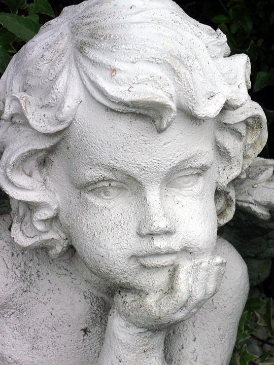 Angel, Faith, Sculpture, Cemetery, Hope, Fig