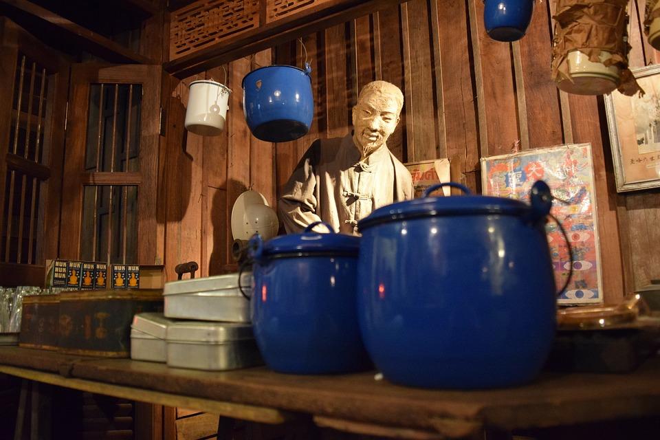 China, Small Shops, Sculpture, Chiang Mai Thailand