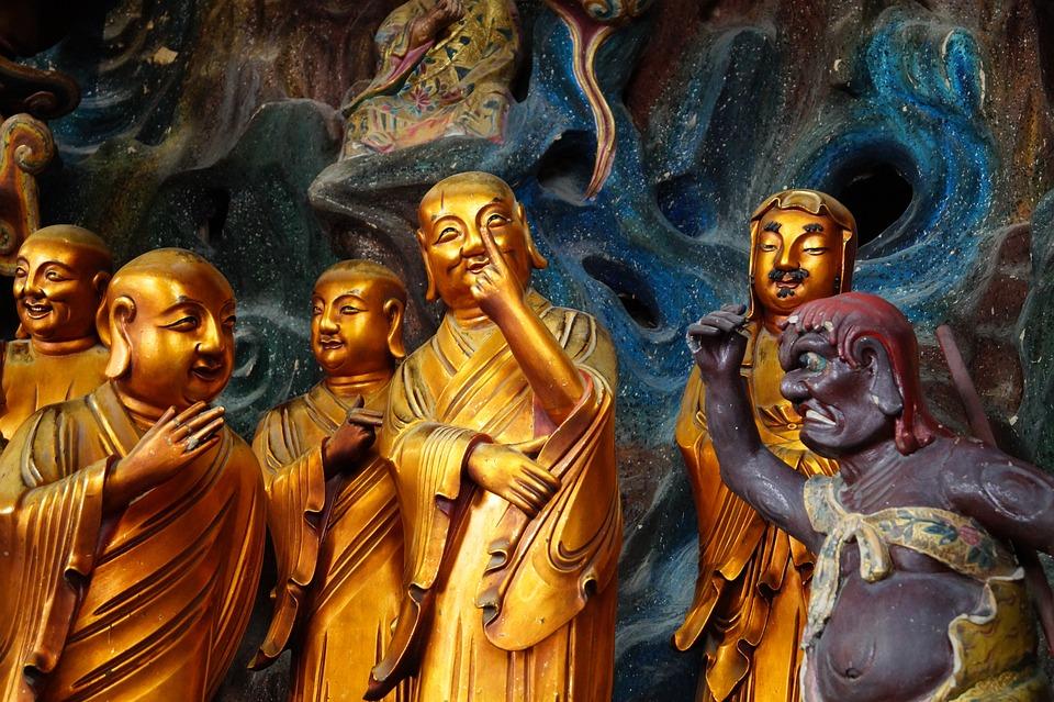 China, Buddhism, Sculpture, Buddha, East, Statue